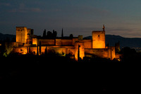 Alhambra at Night from San Nicolas Park Across Valley